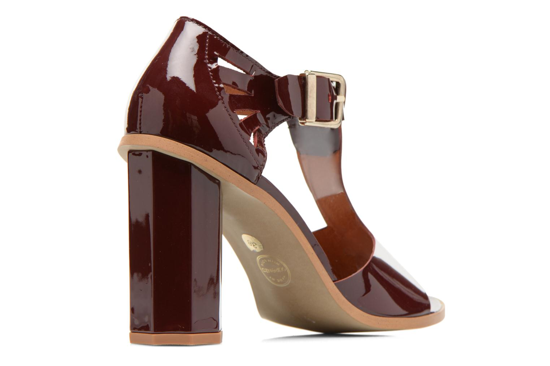 Sandales et nu-pieds Made by SARENZA Square Simone#3 Bordeaux vue face