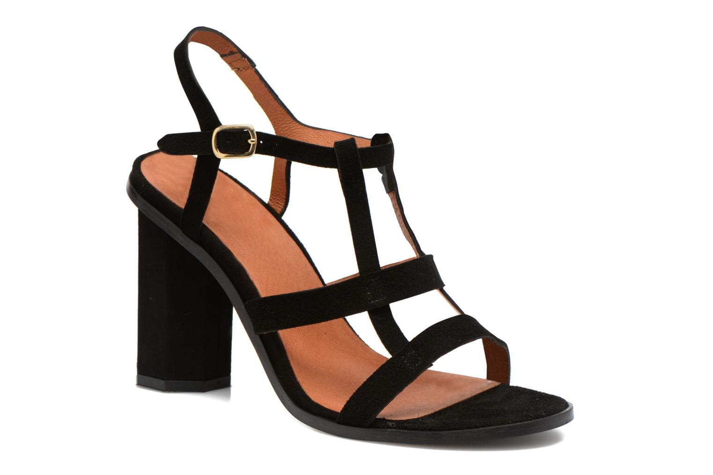 Sandalen Made by SARENZA Square Simone#7 Zwart voorkant