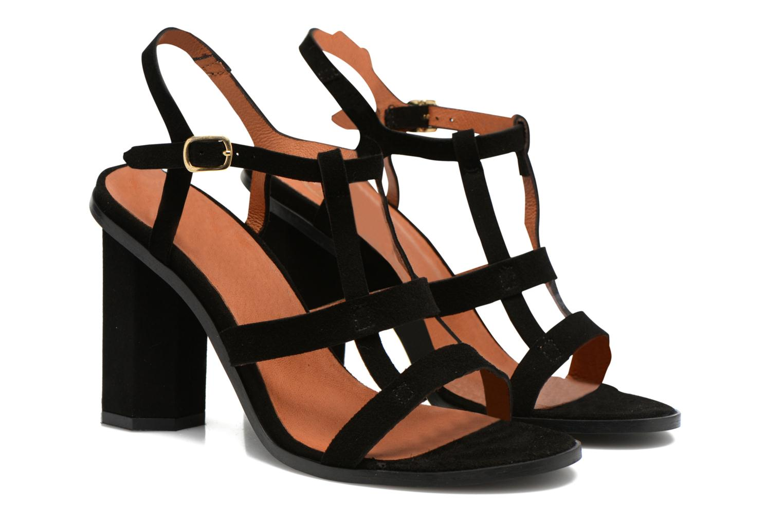 Sandales et nu-pieds Made by SARENZA Square Simone#7 Noir vue droite