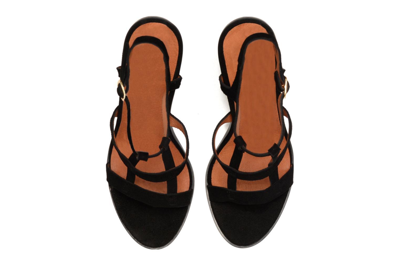 Sandales et nu-pieds Made by SARENZA Square Simone#7 Noir vue gauche