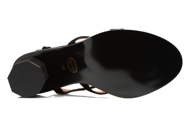 Sandales et nu-pieds Made by SARENZA Square Simone#7 Noir vue haut