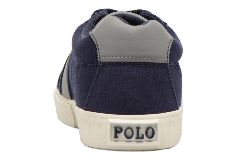 Baskets Polo Ralph Lauren Hugh Bleu vue droite