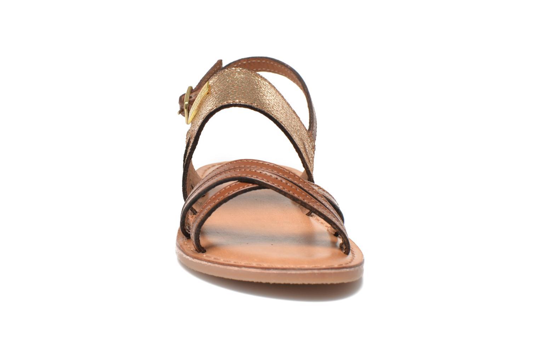 Sandalen Les Tropéziennes par M Belarbi Becot braun schuhe getragen