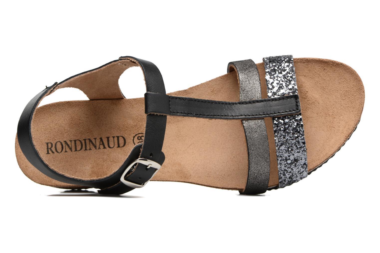 Sandales et nu-pieds Rondinaud Ceou Noir vue gauche
