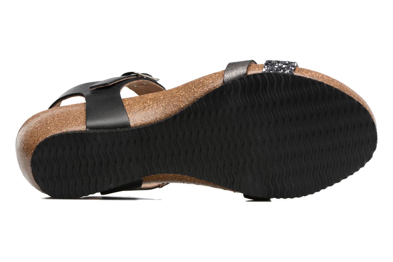 Sandales et nu-pieds Rondinaud Ceou Noir vue haut