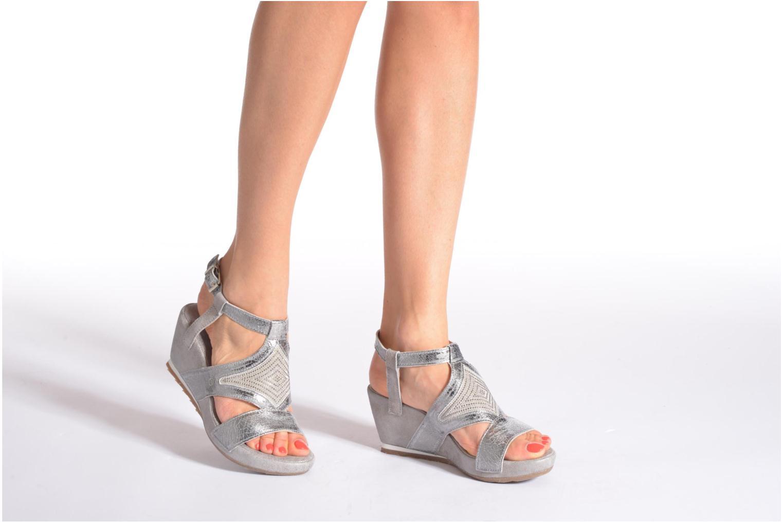 Sandales et nu-pieds Khrio Monteria Argent vue bas / vue portée sac