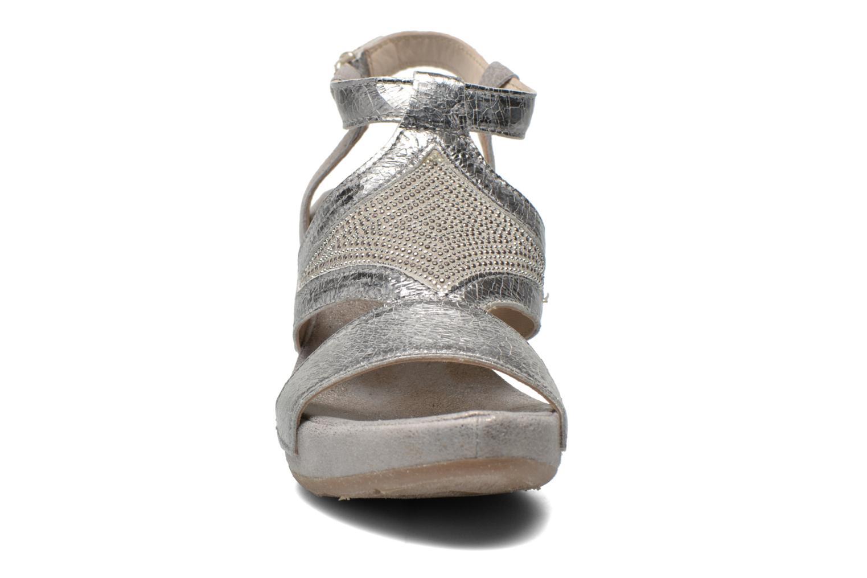 Sandales et nu-pieds Khrio Monteria Argent vue portées chaussures