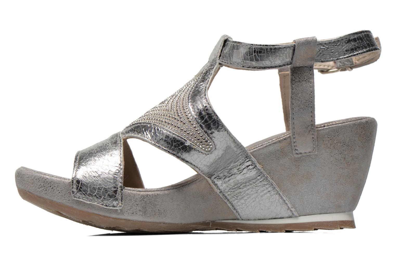Sandales et nu-pieds Khrio Monteria Argent vue face