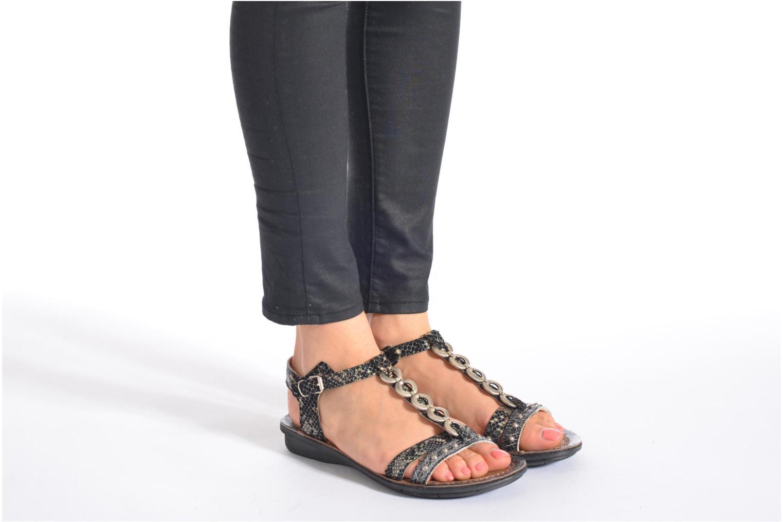 Sandales et nu-pieds Khrio Cartagena Noir vue bas / vue portée sac
