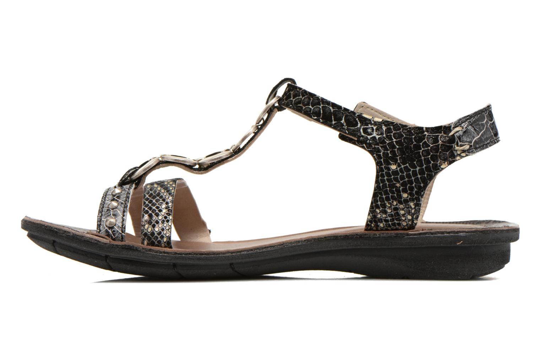 Sandales et nu-pieds Khrio Cartagena Noir vue face