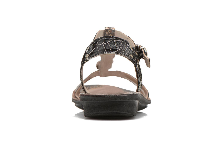 Sandales et nu-pieds Khrio Cartagena Noir vue droite