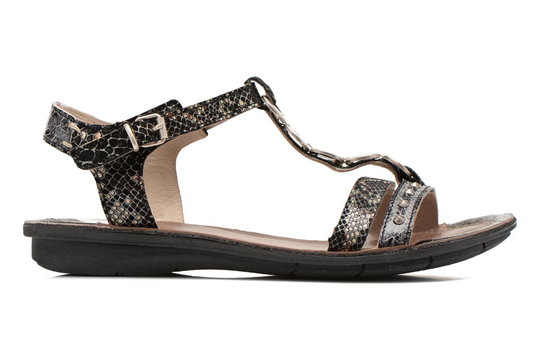 Sandales et nu-pieds Khrio Cartagena Noir vue derrière