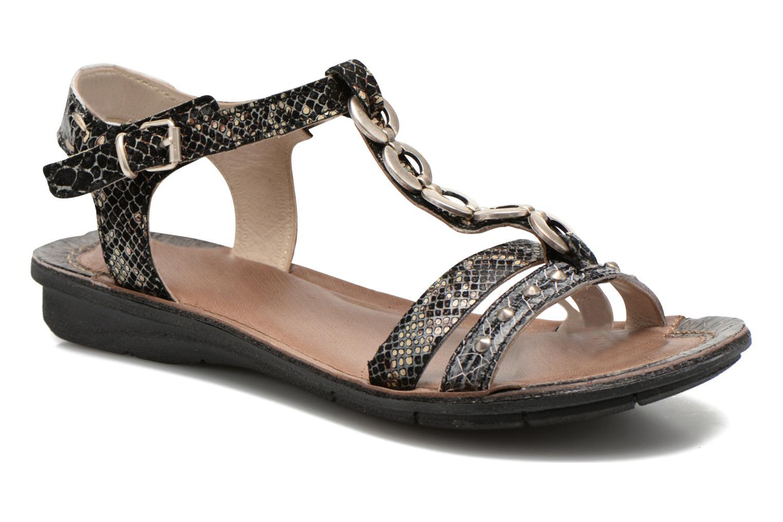 Sandales et nu-pieds Khrio Cartagena Noir vue détail/paire