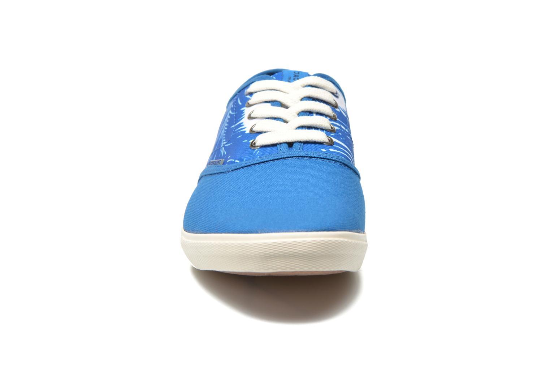 Baskets Jack & Jones JJSpider Canvas Palm Print Bleu vue portées chaussures