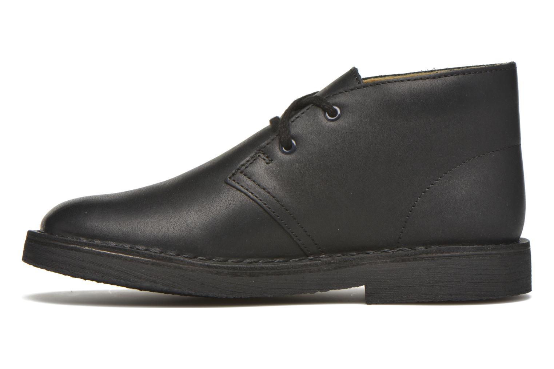 Chaussures à lacets Clarks Desert Boot Noir vue face