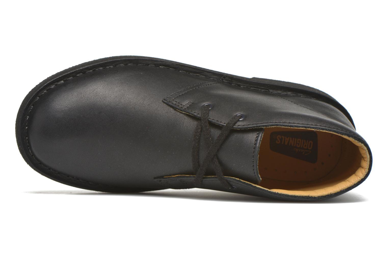 Chaussures à lacets Clarks Desert Boot Noir vue gauche