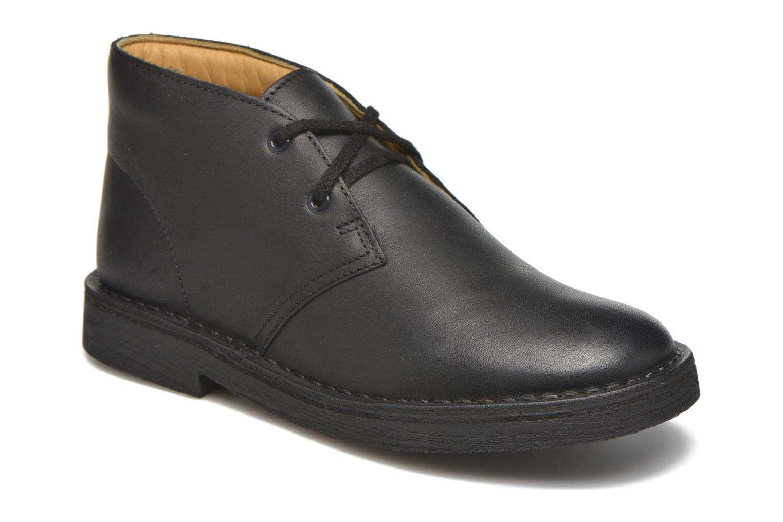 Chaussures à lacets Clarks Desert Boot Noir vue détail/paire