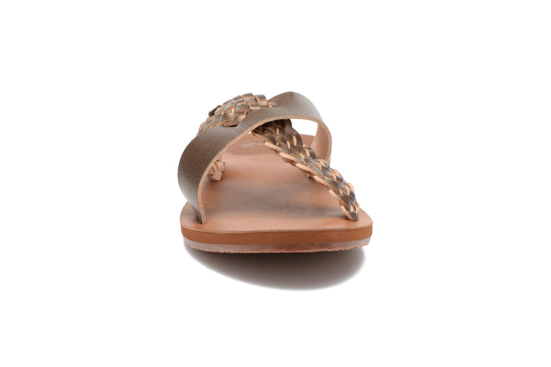 Mules et sabots Roxy Sol Marron vue portées chaussures