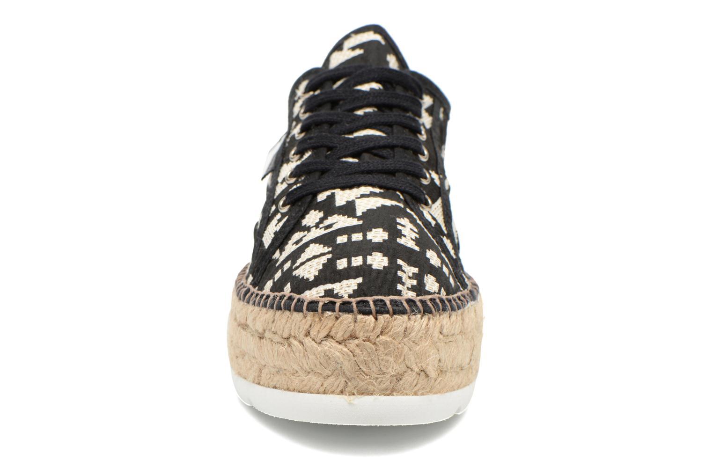 Baskets Victoria Basket Geometrico Platafor Noir vue portées chaussures