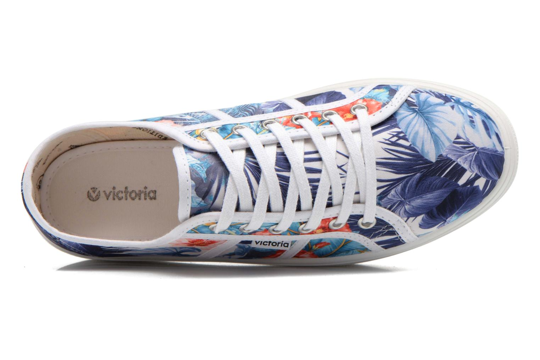 Blanco Victoria Basket Flores Y Corazones P (Multicolore)