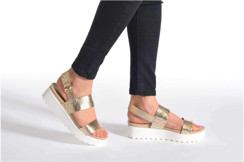 Sandales et nu-pieds Victoria Sandalia Hebilla Noir vue bas / vue portée sac