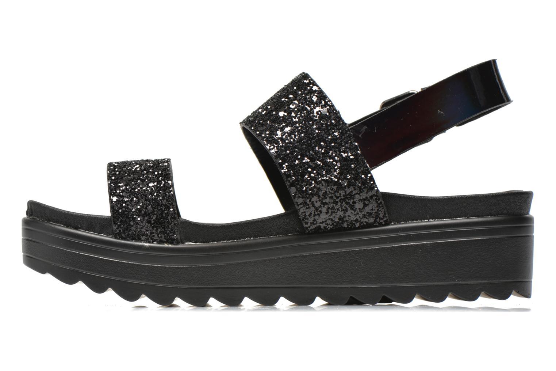 Sandales et nu-pieds Victoria Sandalia Hebilla Noir vue face