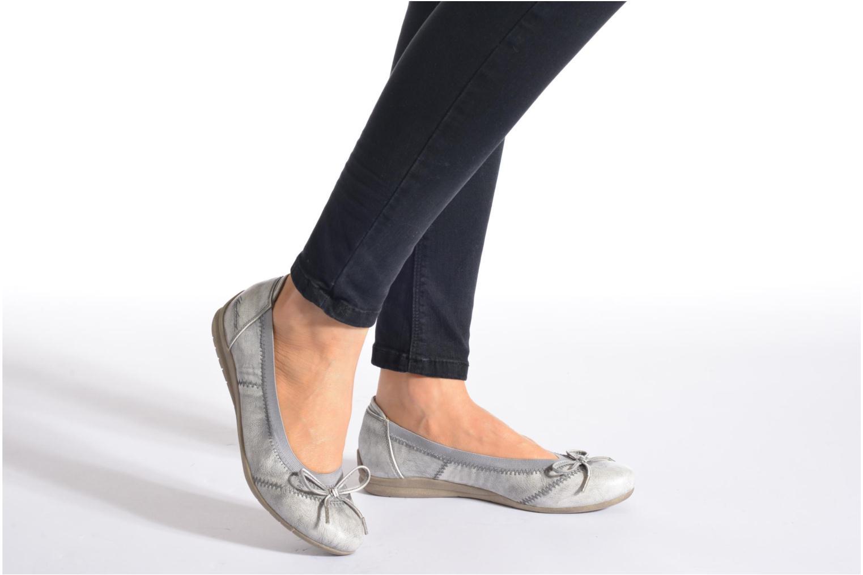 Ballerines Mustang shoes Lasle Rose vue bas / vue portée sac