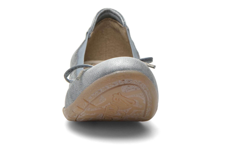 Ballerines Mustang shoes Lasle Gris vue portées chaussures