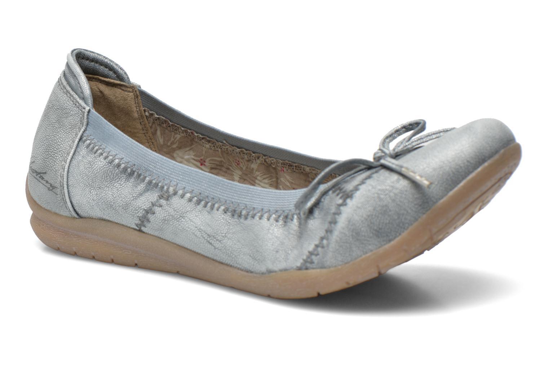 Ballerines Mustang shoes Lasle Gris vue détail/paire