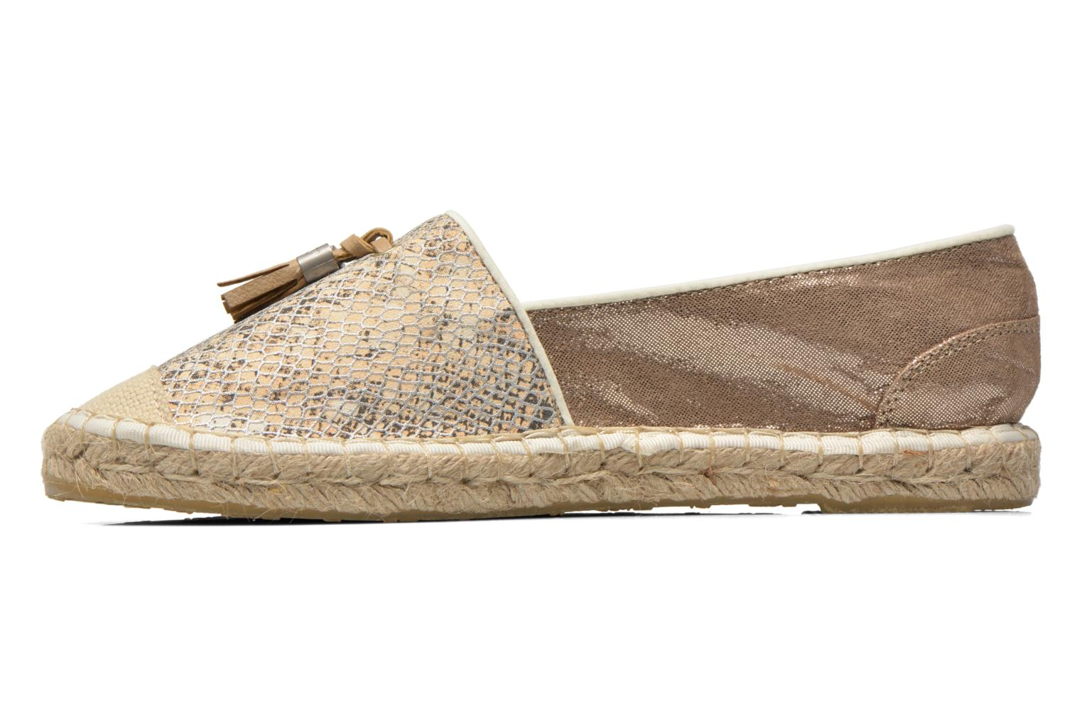 Espadrilles Mustang shoes Brauw Beige vue face
