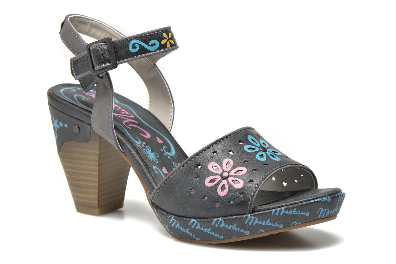 Sandales et nu-pieds Mustang shoes Bilte Gris vue détail/paire