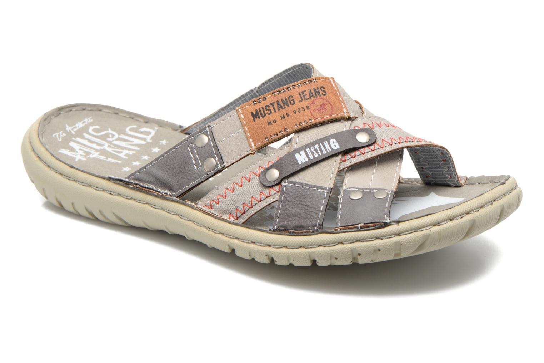 Sandales et nu-pieds Mustang shoes Silleul Gris vue détail/paire