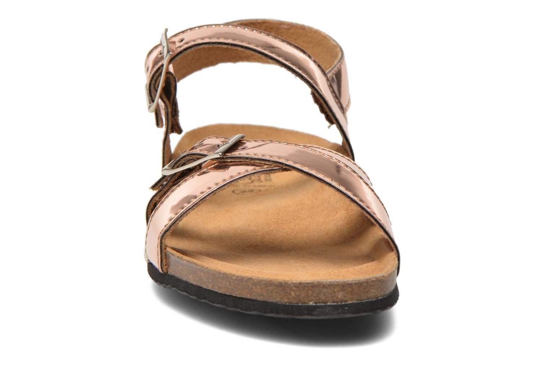 Sandales et nu-pieds Le temps des cerises Adele Or et bronze vue portées chaussures