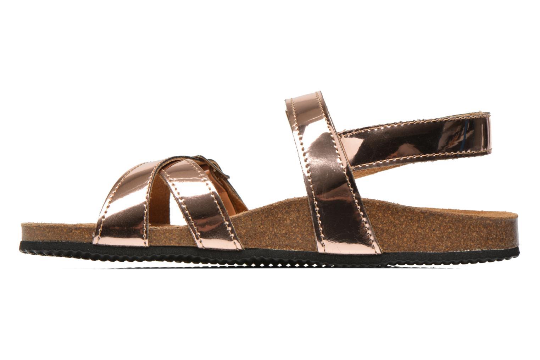 Sandales et nu-pieds Le temps des cerises Adele Or et bronze vue face
