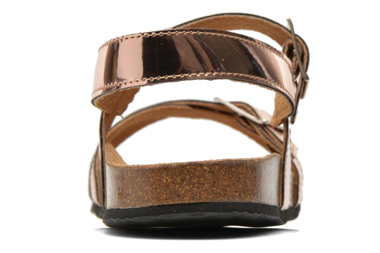 Sandales et nu-pieds Le temps des cerises Adele Or et bronze vue droite