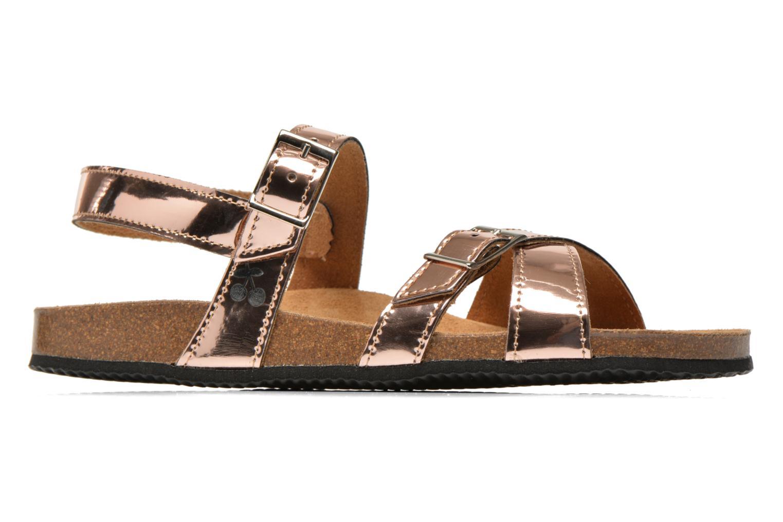 Sandales et nu-pieds Le temps des cerises Adele Or et bronze vue derrière