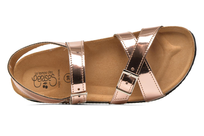 Sandales et nu-pieds Le temps des cerises Adele Or et bronze vue gauche