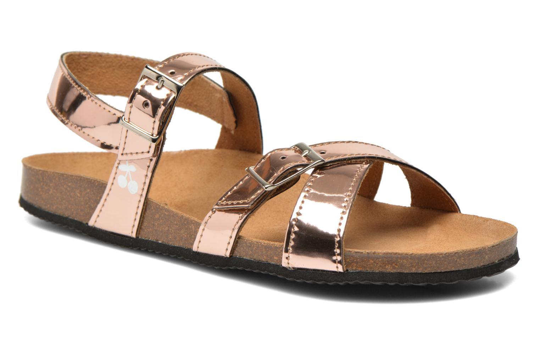 Sandales et nu-pieds Le temps des cerises Adele Or et bronze vue détail/paire