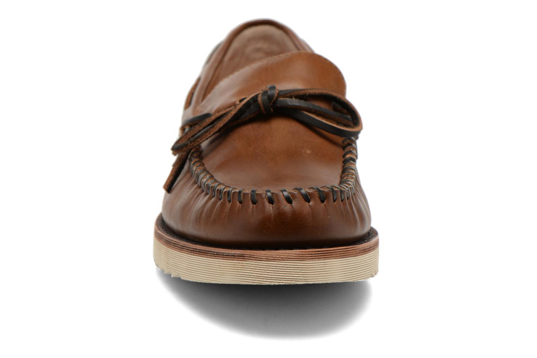 Mocassins Frye Nathan Tie Marron vue portées chaussures