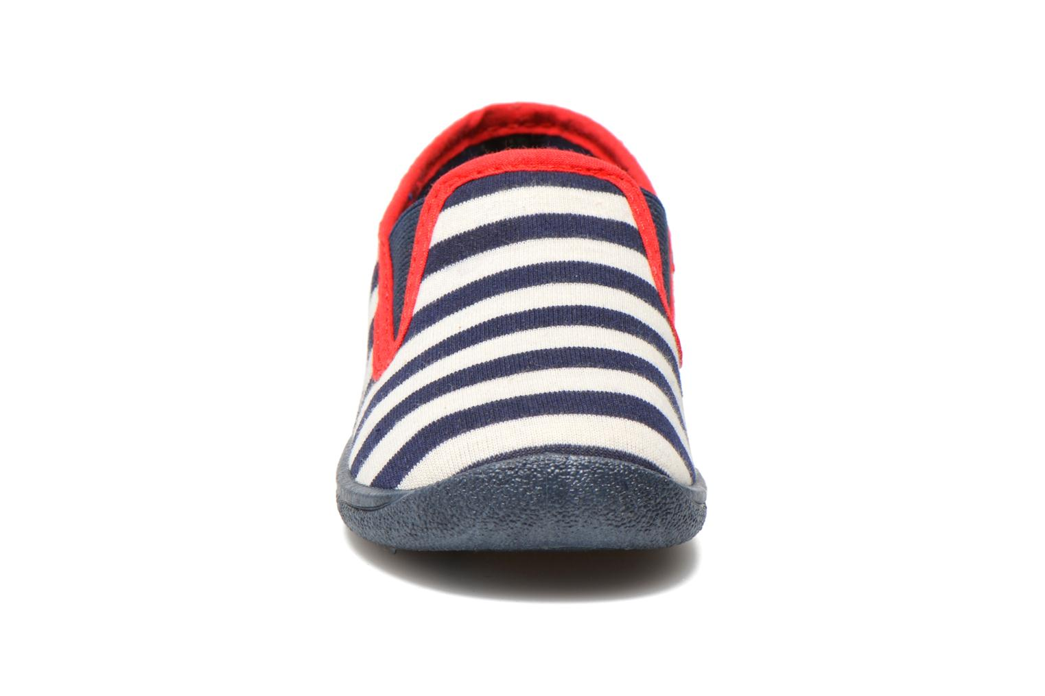 Chaussons Rondinaud Jimmy Blanc vue portées chaussures