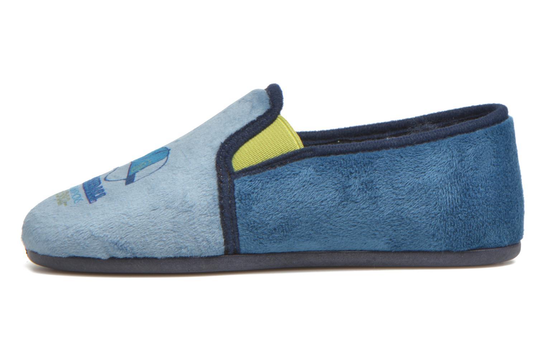 Pantuflas Rondinaud Fanon Azul vista de frente