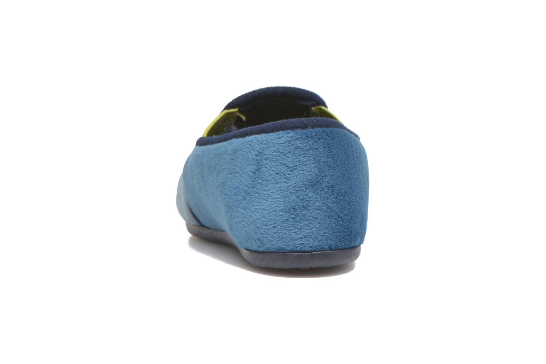 Pantuflas Rondinaud Fanon Azul vista lateral derecha