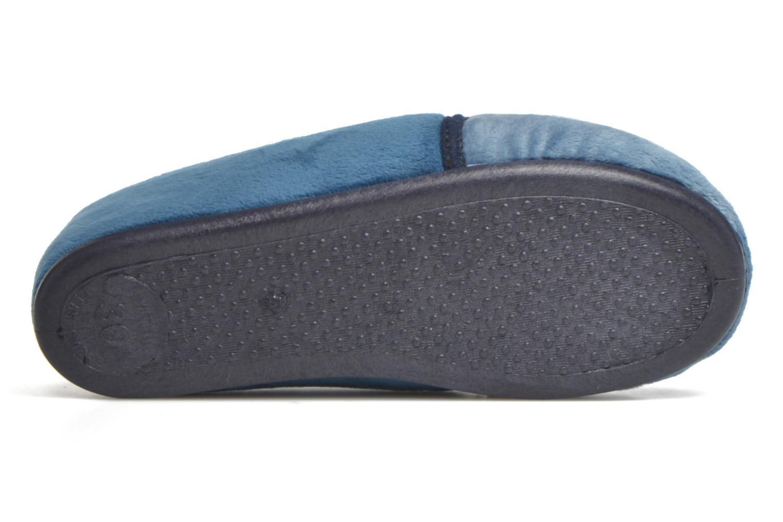 Pantuflas Rondinaud Fanon Azul vista de arriba
