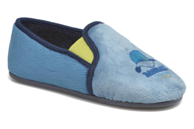 Pantuflas Rondinaud Fanon Azul vista de detalle / par