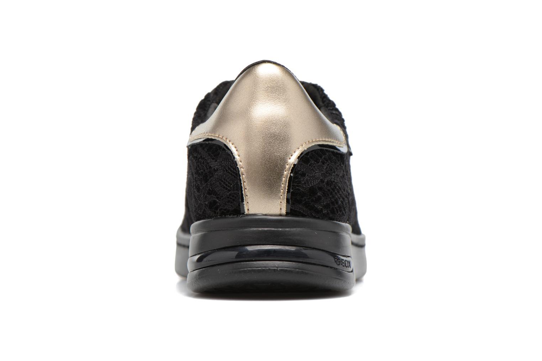 Sneakers Geox D JAYSEN A D621BA Zwart rechts