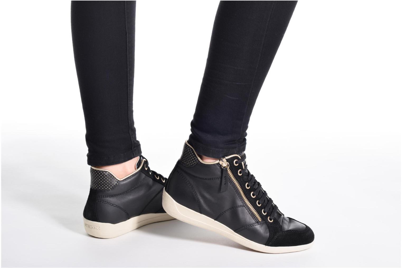 Sneaker Geox D MYRIA A D6268A schwarz ansicht von unten / tasche getragen