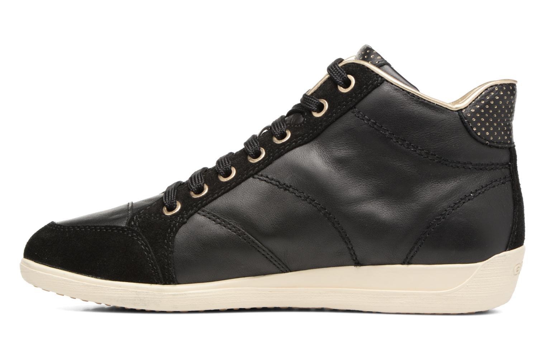 Sneaker Geox D MYRIA A D6268A schwarz ansicht von vorne