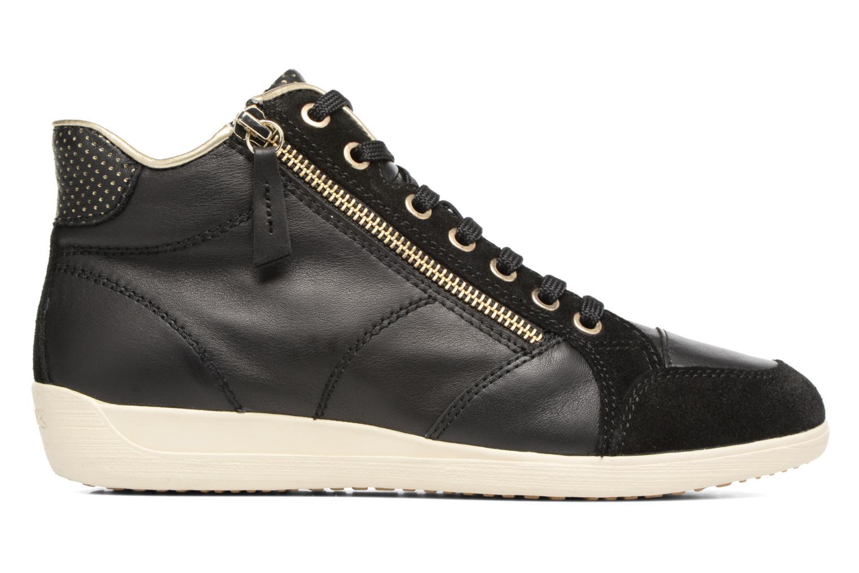 Sneaker Geox D MYRIA A D6268A schwarz ansicht von hinten