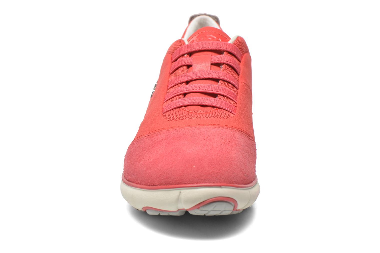 Baskets Geox D NEBULA C D621EC Rouge vue portées chaussures