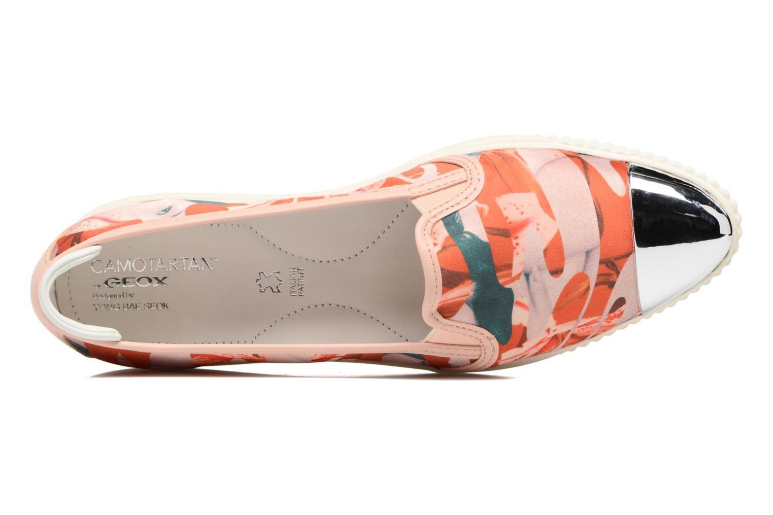 Mocassins Geox D AMALTHIA D D621MD Orange vue gauche